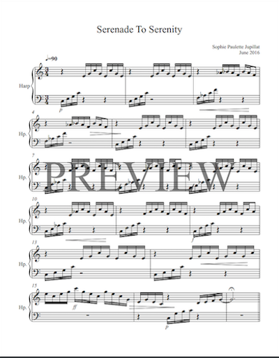 Serenade to Serenity sheet music